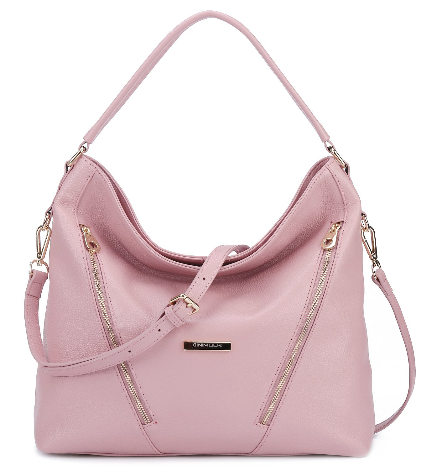 4558e897e7 BIG SALE-AINIMOER Womens Leather Vintage Shoulder Bag Ladies Handbags Tote  Top-handle Purse Cross Body Bags (Pink)
