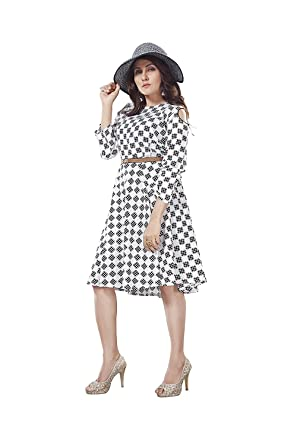 f243f259ff3e8 ORLIN ONE Piece Dress for Women Frock for Girls: Amazon.in: Clothing ...