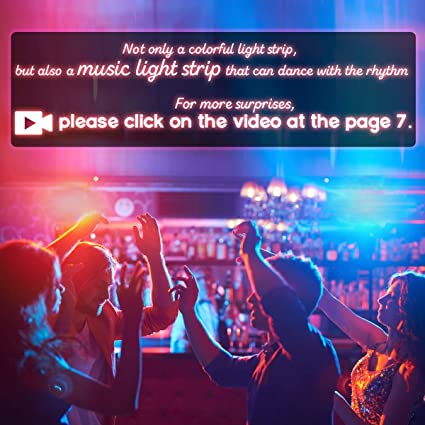 LED Strip Lights Music - DotStone Waterproof RGB LED Light Strip Kit 16 4ft  SMD 5050 Tape Lights, Color Changing Rope Lights with Remote for Bedroom