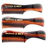 """GBS Pocket Beard & Mustache Comb 3 pack - Small (3"""" long) Unbreakable Fine Toothed Beard and Moustache Combs for Facial…"""