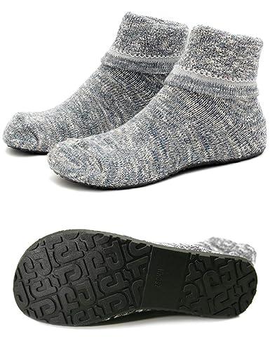 0ea0cb36d Women Slipper Socks Warm Thick Home Fuzzy Socks with Soles Rubber Bottom Non  Skid Wearable (