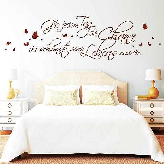 Wandtattoo Gib jedem Tag die Chance 10203 Twain Lebens Zitat Spruch Worte Zitate