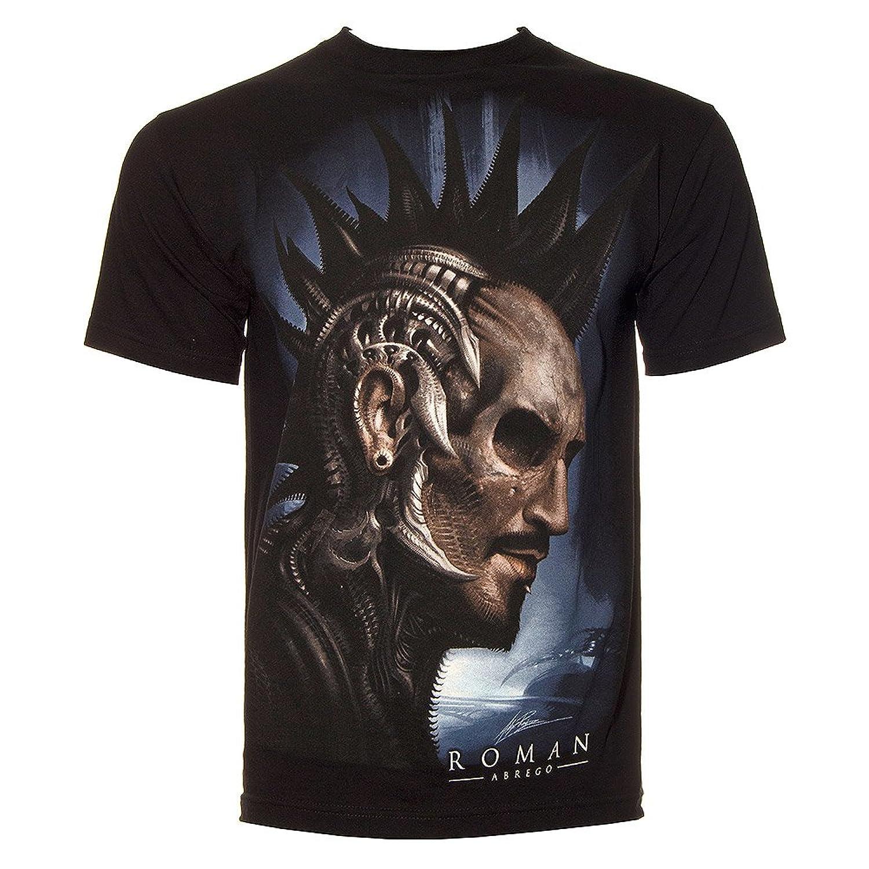 Sullen Clothing Roman Iron T Shirt Mens Black Alien Skull Tattoo Goth Tee