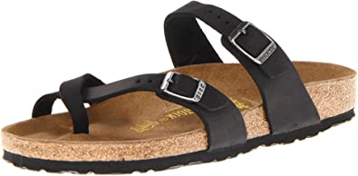 Birkenstock Mayari Birko flor Black Thong Sandals 071791 regular