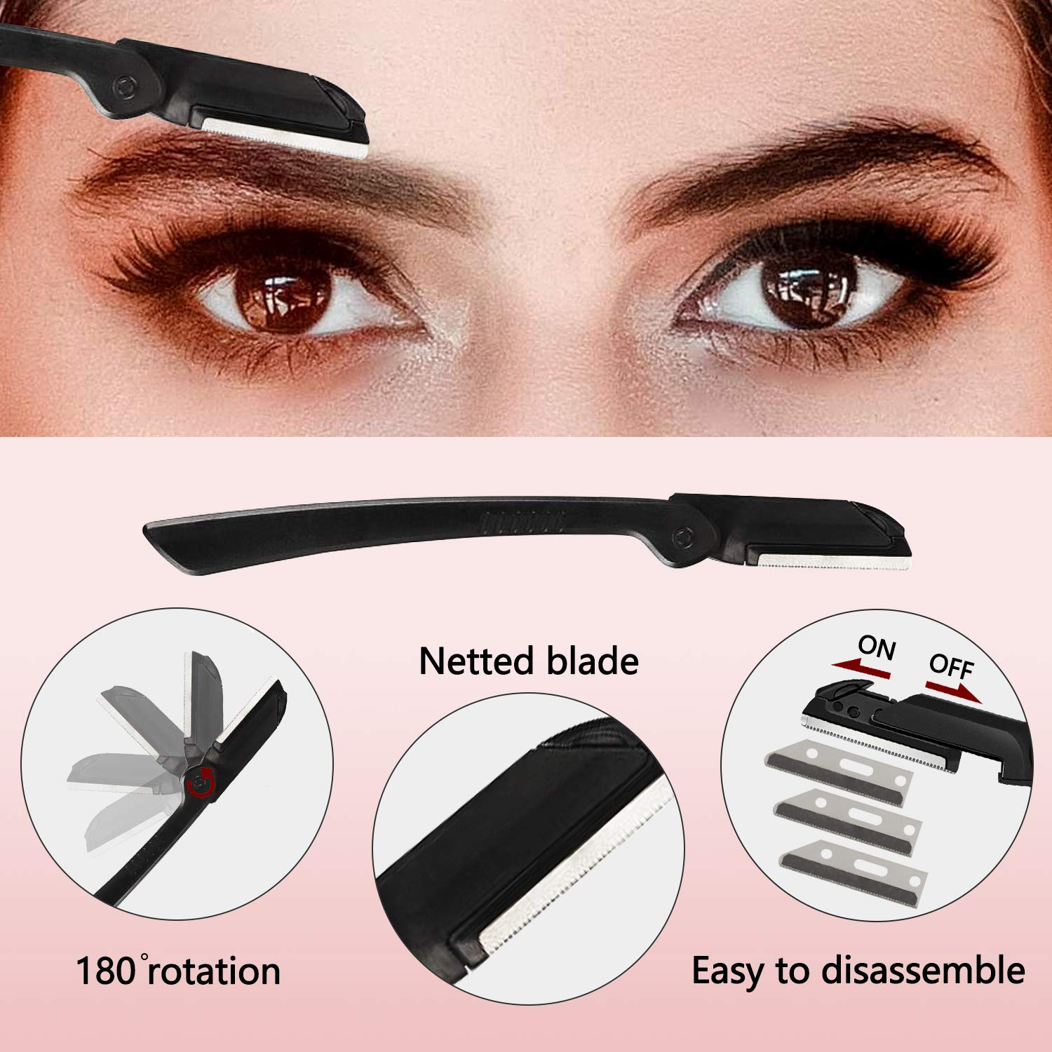Eyebrow Kit, 4 in 1 Stainless Steel Eyebrow Grooming Set, Eyebrow Scissors, Eyebrow Brush, Tweezers, Eyebrow Razor, Eyebrow Trim Tool Set for for Women Men (4Pcs): Beauty