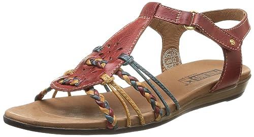 ALCUDIA 816-3 - sandalias abiertas de cuero mujer, color rojo, talla 36 Pikolinos