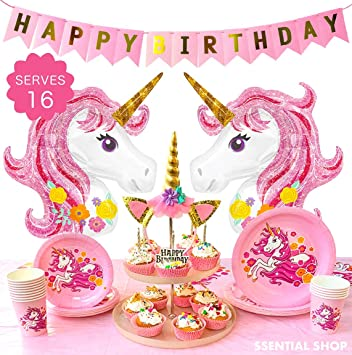 Generic Unicorn Party Rainbow Childrens Birthday Tableware
