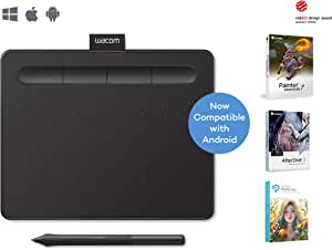 """Wacom Wacom Intuos Drawing Tablet, with Free Creative Software Download, 7.9""""x 6.3"""", Black (CTL4100),Black,CTL-4100/K0-C"""