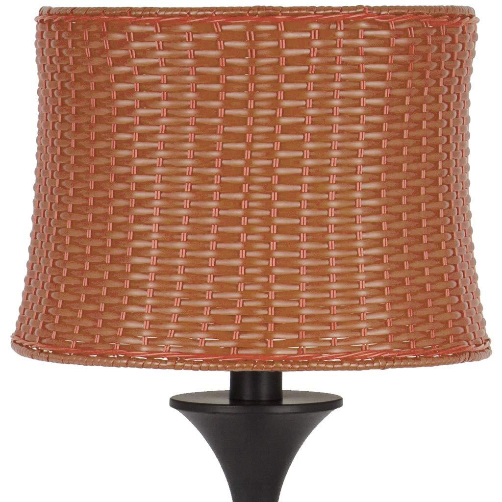 """59.5""""H Outdoor / Indoor Basketweave Floor Lamp - Brown"""