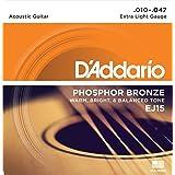 D'Addario Phosphor Bronze Acoustic Guitar Strings - Extra Light | EJ15