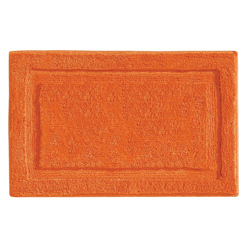 """InterDesign Microfiber Spa Bathroom Accent Rug, 34"""" x 21'' Inches, Orange"""