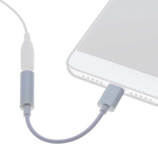 BeMatik UH099 C/âble Adaptateur Casque USB-C m/âle vers Mini-Jack 3,5 mm Femelle 12 cm