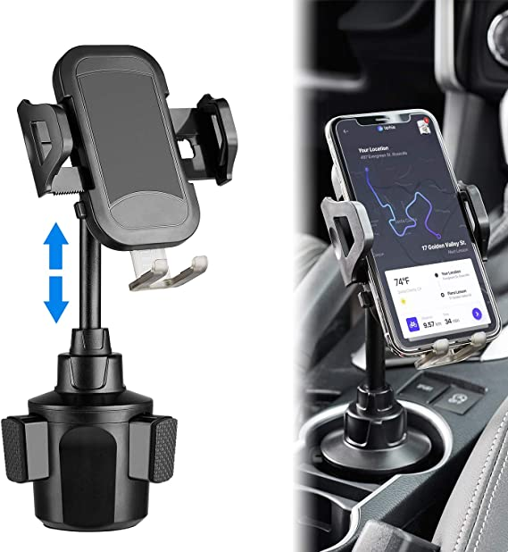 Cell Phone Holder for Car Magnetic Phone Car Mount Phone Holder for Car Golden Phone Mount Compatible with iPhone Xs Max XR X 8 7 Plus Galaxy S10 S9 S8 Plus Note 9 8 Google LG HTC and More
