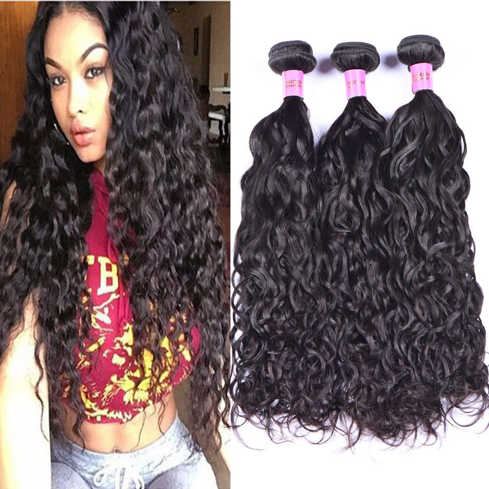 Hot Sale 2018 Black Rose Hair 7a Unprocessed Brazilian Water Wave