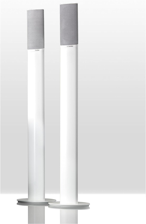 876 mm Alt. Nero Compatibile con Altoparlanti Satellite HKTS 9 Harman//Kardon Set di Due Supporti da Pavimento in Alluminio HKTS 16 e HKS 4 con Sistema Gestione Cavo