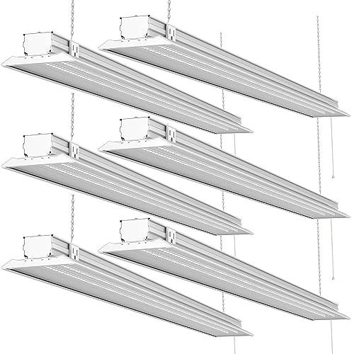 led overhead shop lights 120v outdoor led sunco lighting pack 4ft 48 inch led flat utility shop light 40w 300w eq for garage amazoncom
