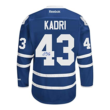 buy popular 073b9 5055e Nazem Kadri Signed Toronto Maple Leafs Stadium Series Jersey ...