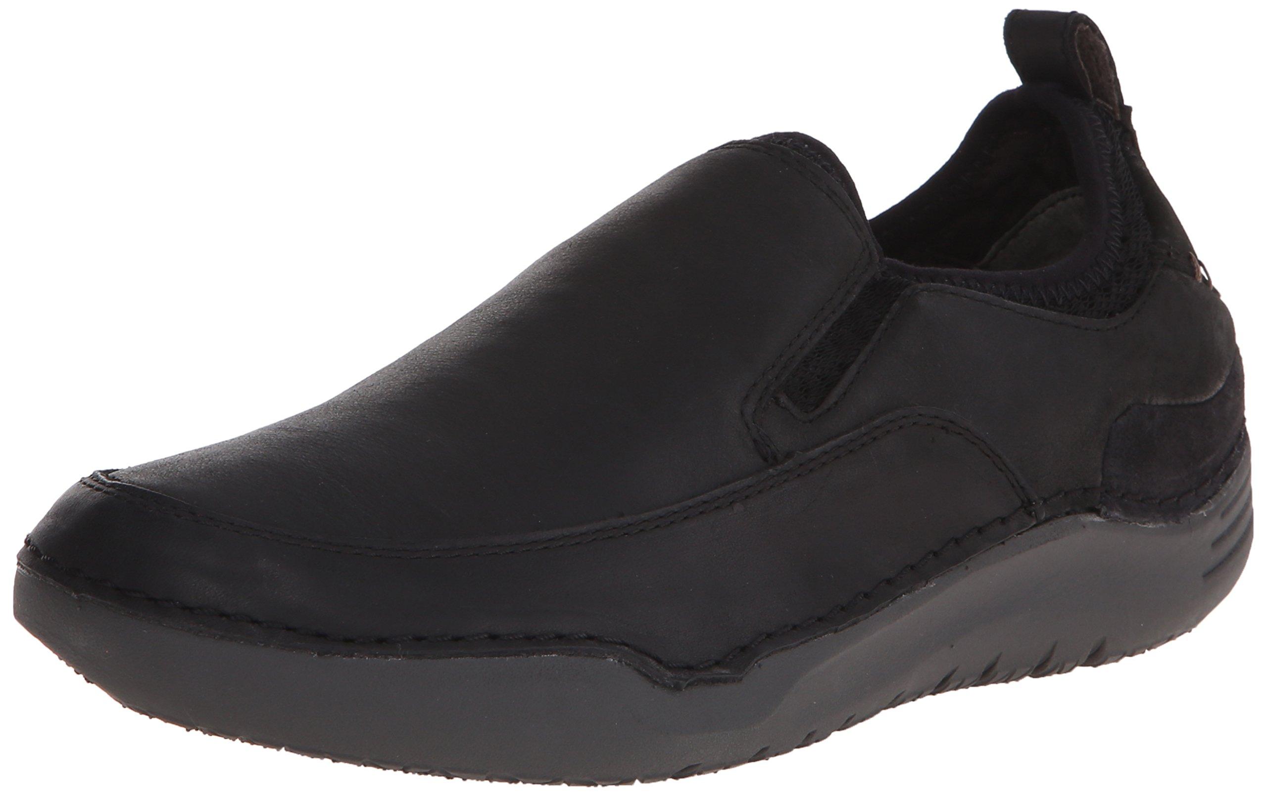 Hush Puppies Men's Crofton Method Slip-On Loafer, Black Leather, 7 M US