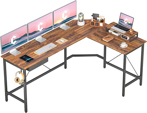 CubiCubi L-Shaped Desk Computer Corner Desk