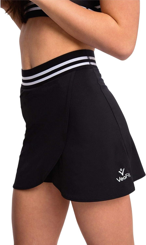 VeoFit Falda Deportiva para Mujer con Pantalón Corto Integrado y Bolsillo Lateral - Cómoda, Transpirable, Elegante Falda de Yoga, Tennis Skirt, Golf Skort con Diseño francés
