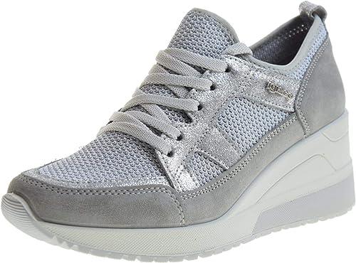 IGI&CO Scarpe Donna Sneakers con Zeppa 3163011 Perla: Amazon