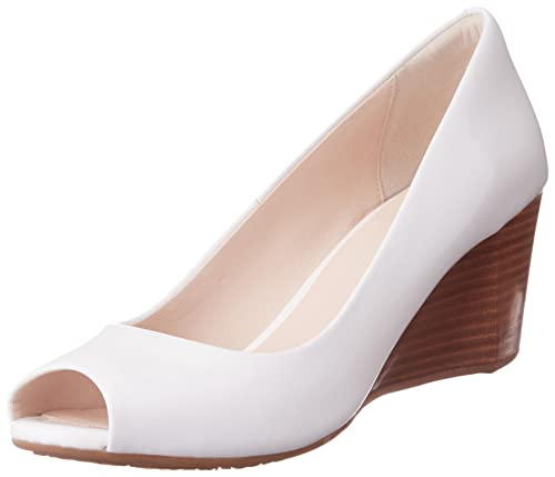 19a2e4710a Cole Haan Women's Sadie Ot Wedge 65mm Pump, Optic White Patent, ...
