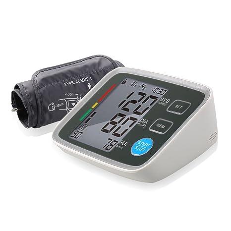 ACEVIVI Monitor de presión arterial automático de brazo Tensiómetro de brazo color gris y blanco