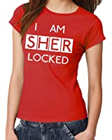 clothinx Damen T-Shirt I am Sherlocked