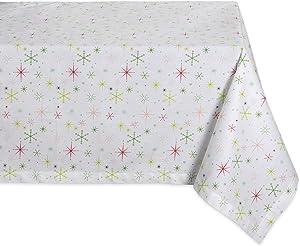 DII CAMZ37713 CHRISTMAS STAR PRINT TABLECLOTH 52x52
