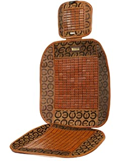 Aahidas Full Seat Cover With Wooden Beads Brown