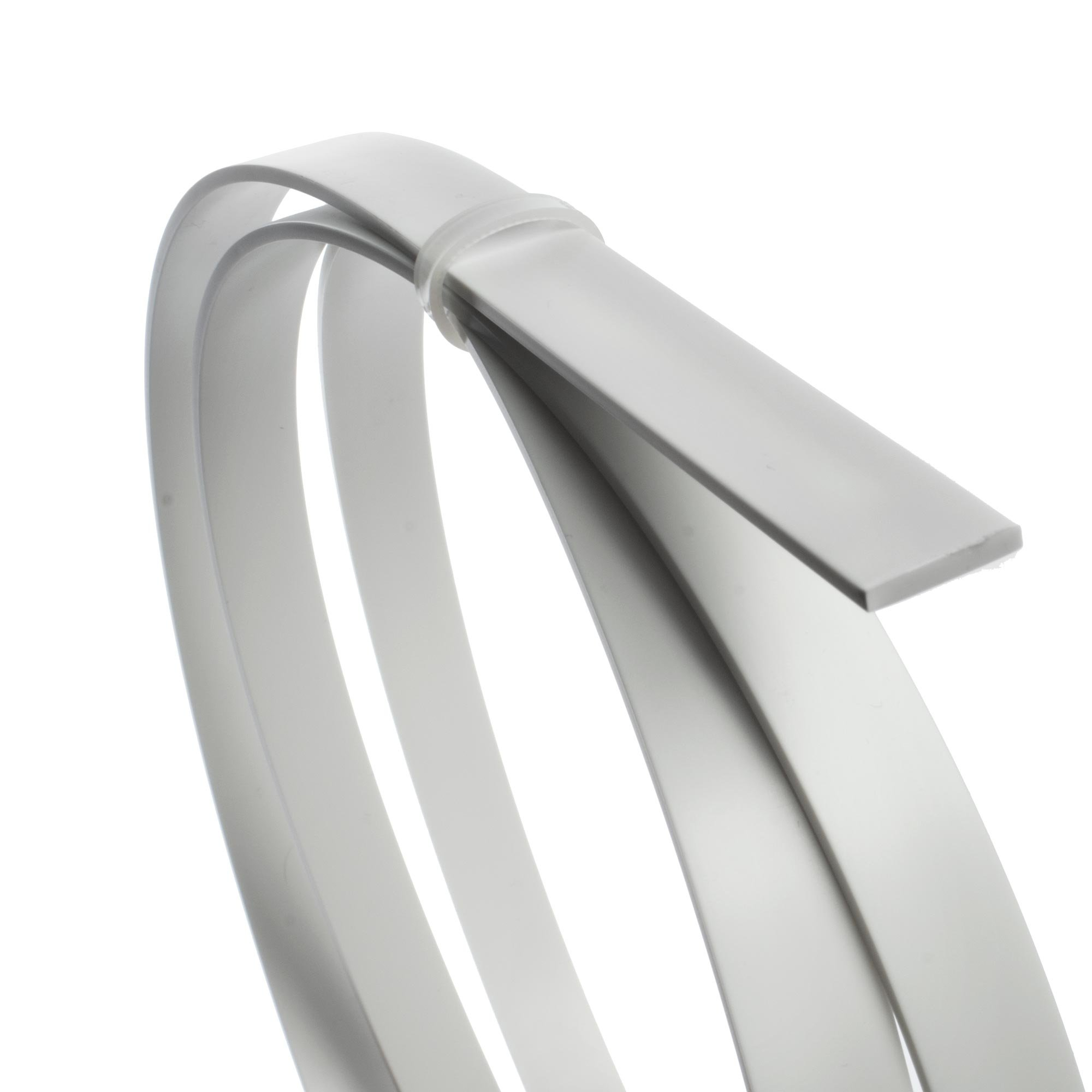 StewMac White ABS Plastic Binding, 65 Inches (1651mm) long by .090'' x .565'' (2.29mm x 14.35mm) - 4 Pack by StewMac (Image #2)