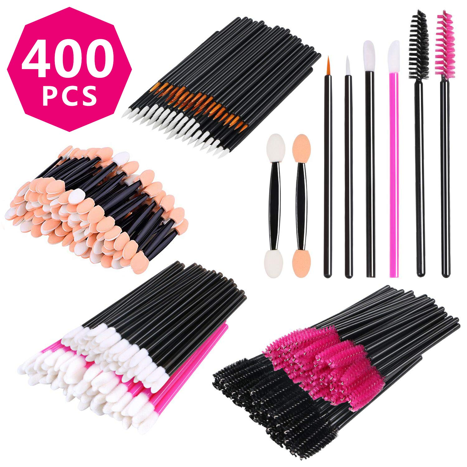 Amazon Com Disposable Makeup Brush Applicators Set False Eyelash
