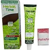 Herbal time, crema colorante con henna sin amoniaco, color chocolate 6