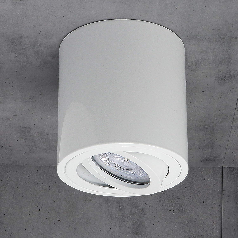 Strahler Spotlight Downlight Ceiling light enthalten 5W leuchtmittel, schwenkbar Budbuddy LED Aufbaustrahler Aufbauleuchten Aufputz Deckenlampe Deckenleuchten GU10 Fassung 230V