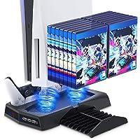 Estação de resfriamento com suporte para PlayStation 5/PS5 – estação de carregamento com controlador Auarte com suporte…