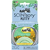 """Crazy Aaron's Scented Thinking Putty 2.75"""" Tin – Mint Scented Light Green Putty – SCENTsory Positive Energy – Never Dries Out"""