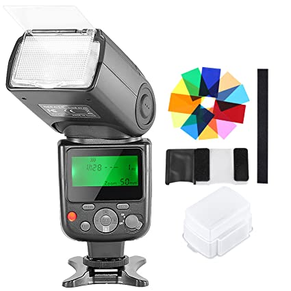 Neewer NW-670 TTL Speedlite Flash with Hard Diffuser,12 Color Filters for  Canon 7D Mark II, 5D Mark II III, IV, 1300D,1200D,1100D,750D,700D and Other