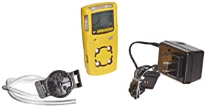 BW Technologies MC2-XWHM-Y-NA GasAlertMicroClip XT 4-Gas Detector with Rechargeable Lithium Polymer Battery, Combustible, O2, H2S and CO, Yellow