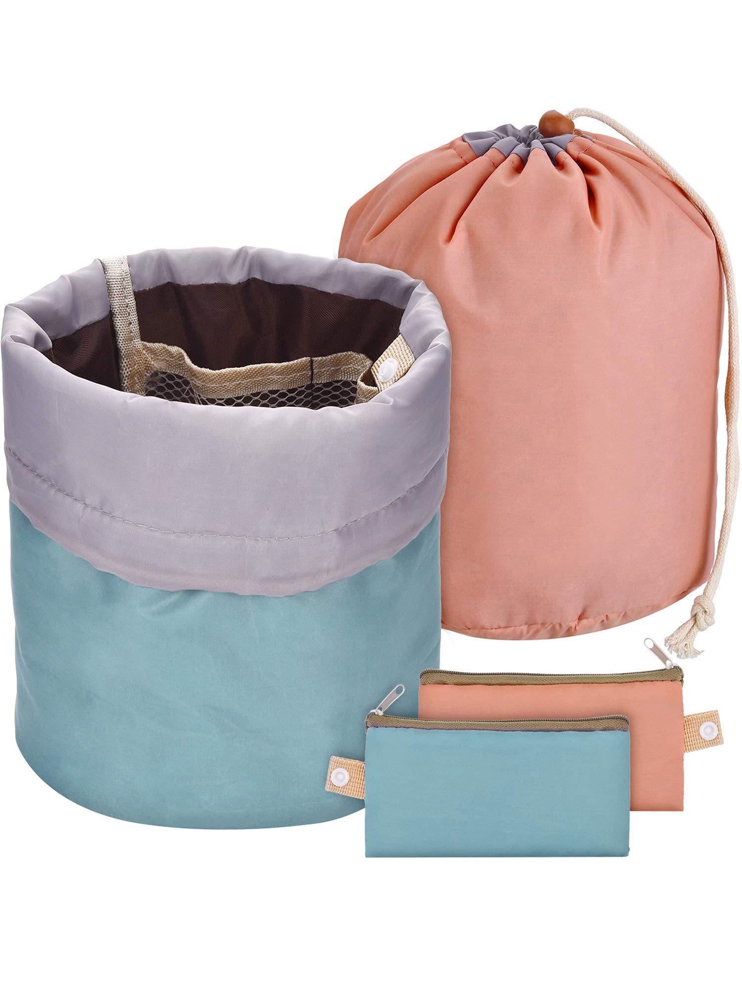 432dbd4b5a6b Bememo 2 Pieces Barrel Shaped Travel Bag Makeup Bag Cosmetic Bag ...