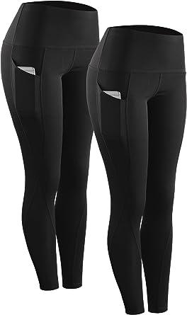 Neleus Womens Yoga Capris Tummy Control High Waist Workout Pants