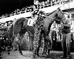 SPORTSPHOTOSUSA War Admiral 1937 First Triple Crown Horse Race Champion Charles Kurtsinger 8x10 Photo