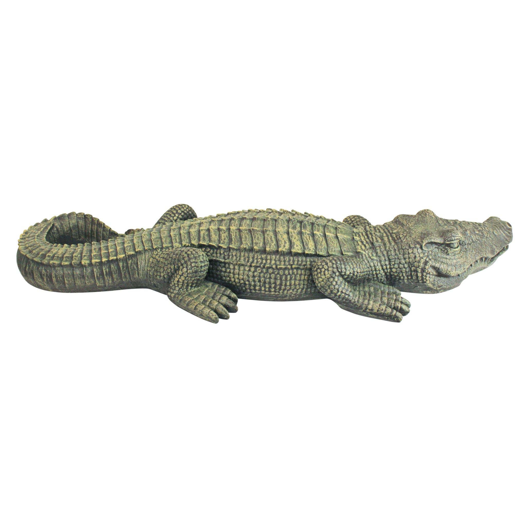 Design Toscano The Swamp Beast Lawn Alligator Crocodile Garden Sculpture, 37 Inch, Polyresin, Full Color by Design Toscano (Image #4)