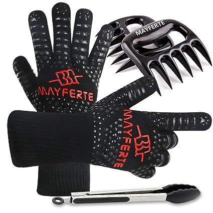 Amazon.com: mayferte barbacoa guantes de cocina guante ...