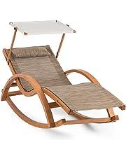 Blumfeldt Malibu • Tumbona • Hamaca para el patio • Sombrilla • ComfortMesh • Efecto mecedora