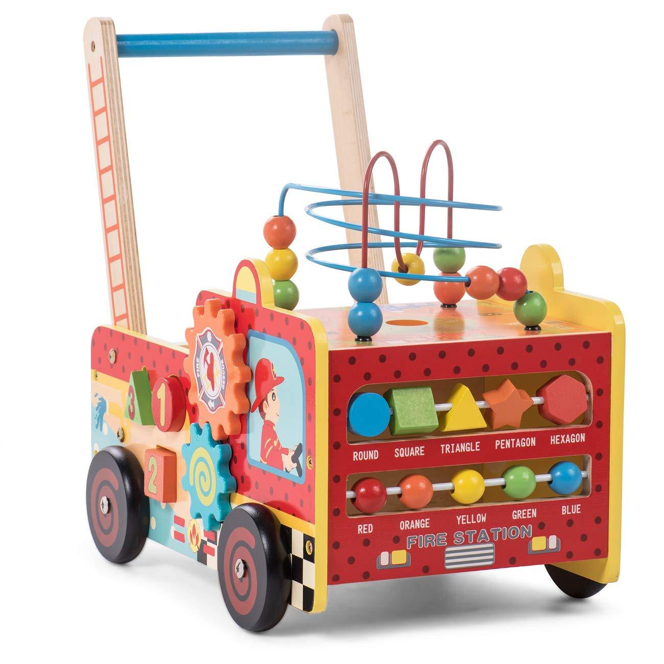 Baby Vivo Andador para Bebé Carrito de Primer Andador Correpasillo Educativo Actividad Juguete de Madera - Frida