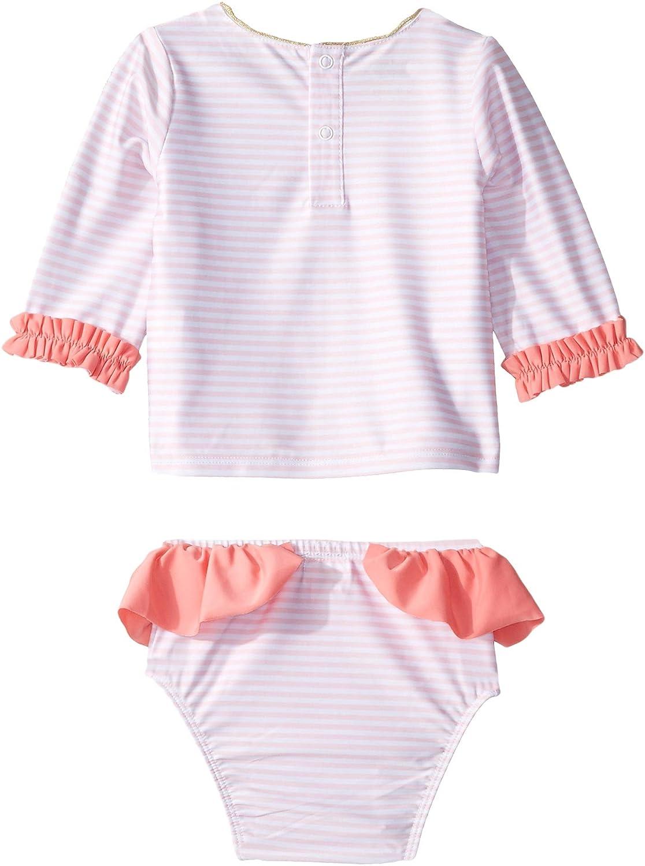 Infant//Toddler Mud Pie Baby Girls Flamingo Rashguard Set