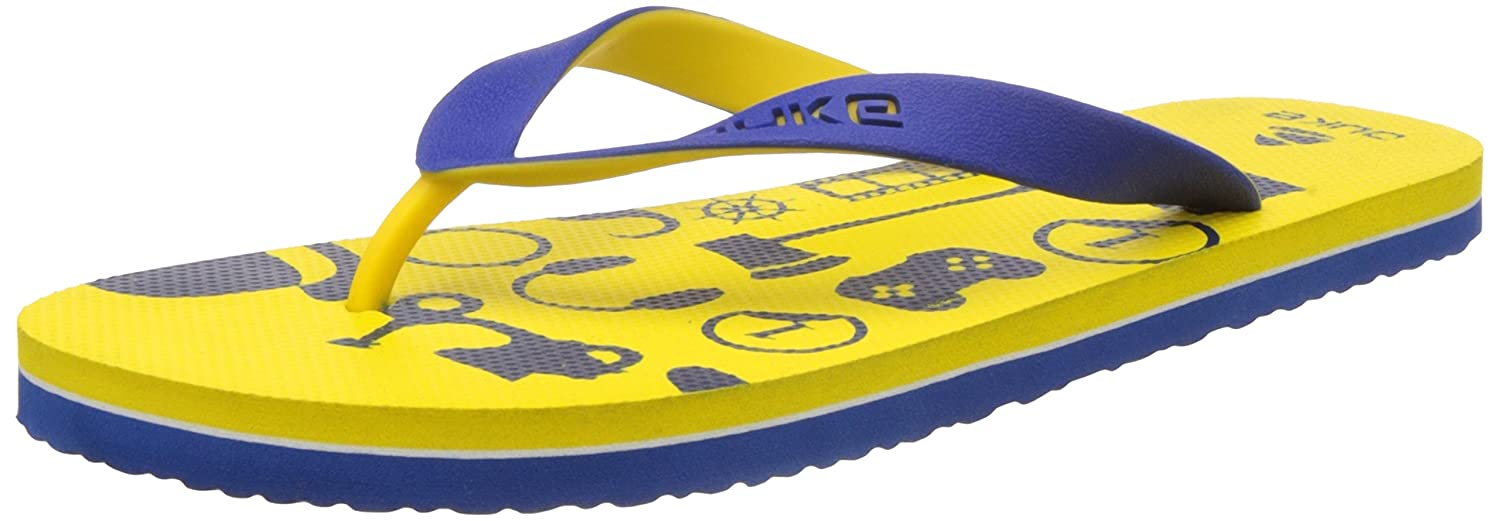 cad3112544985e Duke Men s Yellow and Blue Flip Flops Thong Sandals -8 UK India (42 EU)(9  US)  Buy Online at Low Prices in India - Amazon.in