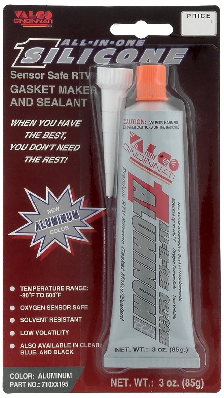 Valco Cincinnati 71195 All-In-One Aluminum Silicone with Nozzle - 3 oz. Tube 710XX195