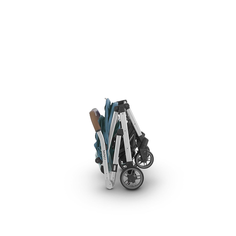 Denny 2018 UPPAbaby MINU Stroller Red Melange//Silver//Black Leather