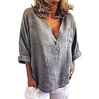 Tops y Blusas Mujer Ropa Verano V-Cuello botón